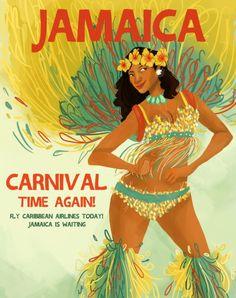 Jamaica Jamaican Caribbean Carnival Vintage Travel Advertisement Art Poster 99 in Collectibles, Souvenirs & Travel Memorabilia, International, Caribbean Islands Jamaica Carnival, Caribbean Carnival, Caribbean Art, Trinidad Carnival, Jamaican Art, Carnival Posters, Jamaica Travel, Travel Ads, Retro Poster