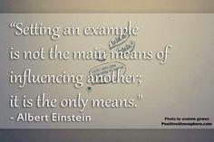 Set an example
