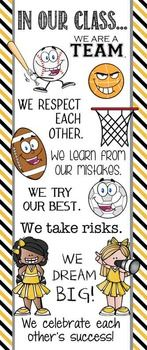 Character Education Banner - In Our ClassDecorate your classroom with this bright, colorful SPORTS banner. This purchase includes one JPEG image which you can upload and print on a vinyl banner. Character Education Banners serve as constant visual reminders to students the importance of having good character.
