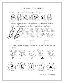 Planse de colorat si fise pentru copii: DS - FISE de lucru cu Insecte - Matematica Four Seasons Art, Kids Schedule, Spring Crafts For Kids, Math Numbers, Math Worksheets, Coloring For Kids, Kids Education, Preschool Activities, Alter