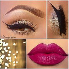 For Prom Night, sparkle clear shadow and dark lip!