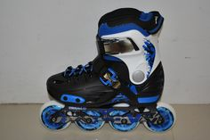 Valo Freeride Youth - 4 size adjustable, Single piece aluminium frame, Abec 7, Easy lace and strap system, Adjustable heel brakes, rocker frame option, 3 colours
