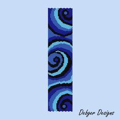 Tidal Wave -Peyote Bracelet Cuff