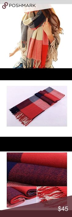 🆕 Winter Warm Lattice Large Scarf SIZE: 79L*23W Inches,Include the tassel. The best quality yarn and cotton processing soft and close to the skin, the manufacturers commitment does not fade, no pilling Multicolor Plaid modeling, more fashionable Very thick, very warm,and very fashion Accessories Scarves & Wraps