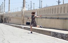The Brown Plaid Dress + Sneakers | One Turn Kill