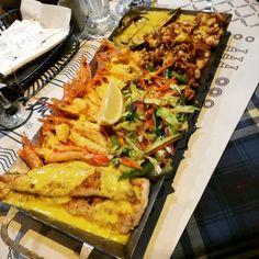 Seafood platter at Ocean Basket always a win.