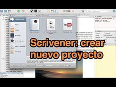 Scrivener: crear nuevo proyecto (tutorial) - YouTube