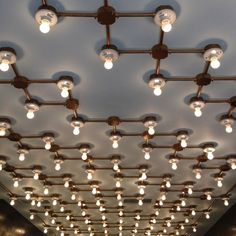 Rejuvenation Industrial:  jealous of this ceiling treatment