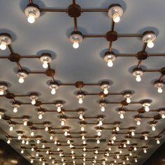 Rejuvenation Industrial:  jealous of this ceiling treatment