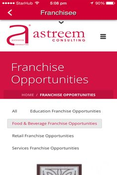 Astreem Consulting Mobile Apps!!   At Astreem, we believe that Franchising can be applied to almost any successful business or service. Download NOW!! By Banana Mobile pps
