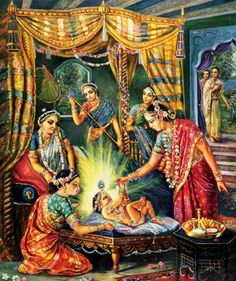 Sita Thakurani bestowing blessings and gifts upon Lord Gauranga