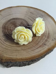 Large Rose Flower Earrings - As You Were Flower Earrings, Serving Bowls, Panna Cotta, Jewellery, Rose, Tableware, Ethnic Recipes, Flowers, Accessories