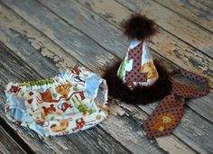 LIMITED AVAILABILITY - Boys Birthday Party Hat, Diaper Cover, Tie - Birthday, Smash Cake, Photo Prop - Jungle Safari Zoo Animals Brown Cream on Etsy, $56.00