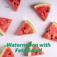 This is one of the most summerish and out of the box salads recipe! Refreshing salad with watermelon, feta and mint leaves are you ready to try it? Watermelon And Feta, Watermelon Slices, Feta Salad, Salad Bowls, Everyday Hacks, Salad Recipes, Vegetarian Recipes, Salads, Potatoes