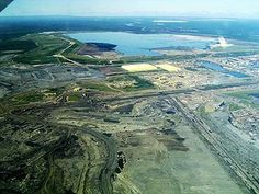 Syncrude's Mildred Lake mine site and plant.