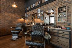 Barber Shop Interior, Barber Shop Decor, Salon Interior Design, Rustic Salon, Tattoo Studio Interior, Barbershop Design, Barbershop Ideas, Home Office Decor, Home Decor
