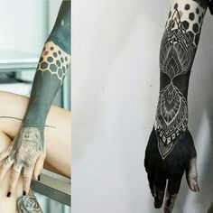 ✩ Check out this list of creative present ideas for coffee drinkers and lovers White Over Black Tattoo, Black Line Tattoo, Dark Tattoo, All Black Tattoos, Sexy Tattoos, Life Tattoos, Sleeve Tattoos, Cool Tattoos, Hexagon Tattoo