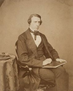 Sir Leslie Stephen (English 1832-1904.) Photograph c1860, photographer unknown. Father to Virginia Woolf and Vanessa Bell.