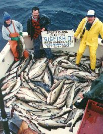 For a spectacular cod fishing trip,  Stellwagen Bank in Massachusetts, has proved consistently successful. The average catch for the past 25 years for 6 people has been between 500 lbs. and 1,000 lbs. of Cod, Pollock, Haddock, Halibut, Wolffish and Monkfish. (Cape Cod Charter Fishing)