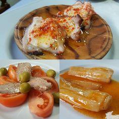 Pulpo tomate con ventresca y calçots en escabeche en @bar_marvi