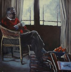 Francisca Louw - Morning coffee 2011  Oil on canvas