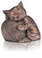 Sleeping Kitty Urn with Yarn Ball in Copper -- Check this awesome product by going to the link at the image. (This is an affiliate link and I receive a commission for the sales) Cat Memorial, Yarn Ball, Urn, Copper, Sleep, Kitty, Pets, Blind, Image Link