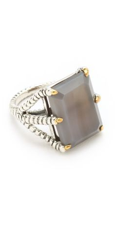 Elizabeth and James Bird Claw Ring with Grey Agate Stone | SHOPBOP