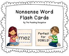 I use these flash cards as a quick way to practice nonsense word fluency at the beginning of my reading groups.  Perfect for DIBELS!  :)