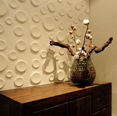3D Wallpaper, making it look like the circles are popping out of the wall