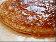 Oatmeal Protein Pancake This is my favorite from scratch pancake that I make. It keeps me full for hours and you can add variety by mixing and matching your toppings. It's delicious with nut butter and fruit, caramelized apples/peaches and cinnamon or simply butter and pure maple syrup.