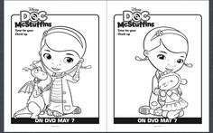 Free Doc McStuffins Coloring Pages #DocMcStuffins #FreeDisneyColoringPages