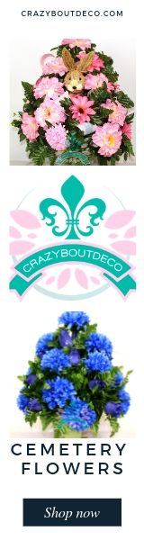 #cemeteryflowers #crazyboutdeco #graveflowers Crazyboutdeco specializes in cemetery flower arrangements for all holidays, Easter, mother's day, father's day, 4th of July, Thanksgiving, Christmas. Visit us at www.crazyboutdeco.com Grave Flowers, Cemetery Flowers, Crochet Flowers, Silk Flowers, Silk Flower Arrangements, Floral Supplies, All Holidays, 13th Birthday, Easter Wreaths