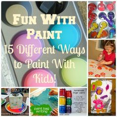 Fun With Paint—15 Different Ways to Paint With Kids! | Livin' The Mom Life