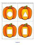 Pumpkin shape matching: Pumpkin Theme for preschool and kindergarten
