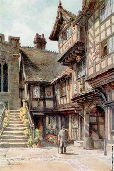 [Picture: Leycester Hospital] - Dış Mekan P. Fantasy Town, Fantasy House, Fantasy World, Medieval Houses, Medieval Life, Medieval Fantasy, Fantasy Places, Environment Concept, Fantasy Inspiration
