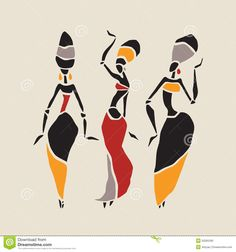African Dancers Silhouette Set Stock Vector - Image: 50265393