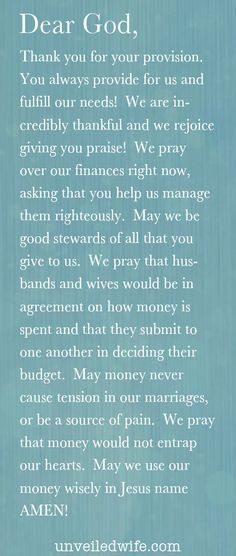 Prayer Of The Day - Money & Marriage
