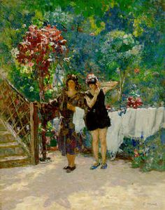 The Bathers, 1925, byEliseu Visconti (Italian,1866-1944)