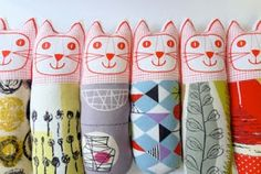 Jane Foster Blog: More Mid Century modern fabric cats by Jane Foster