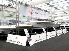 Jeanneau's stand in Sydney Australia Boat Show 2014