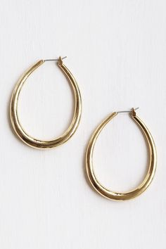 Hoop, there it is. Common Muse Tilda Hoop Earrings, $42, available at Common Muse.  #refinery29 http://www.refinery29.com/best-clothing-under-100-dollars#slide-66