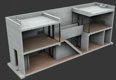 Row House (Azuma), by Tadao Ando at Sumiyoshi, Osaka – Architect Boy Tadao Ando, Sustainable Architecture, Ancient Architecture, Modern Architecture, Casa Azuma, Koshino House, Casa Farnsworth, Row House Design, Patio Interior