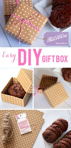 Super Easy DIY Gift Box for Mother's Day or any day... made with scrapbook paper #GiveBakery