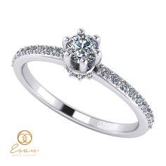 Inel cu diamant ES91 Jewerly, Hair Beauty, Wedding Rings, Engagement Rings, Weddings, Fashion, Jewels, Diamond, Enagement Rings