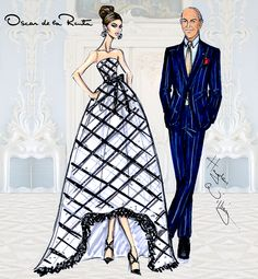 """My role as a designer is to make a woman feel her very best"" - Oscar de la Renta. 1932 - 2014"