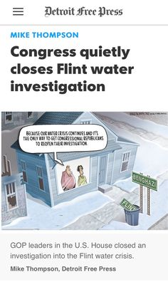 Our Criminal Republican Congress protected Michigan's GOP Gov. Rick Snyder from being prosecuted for Poisoning Low Income Families. Rotten Republicans
