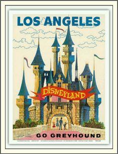 Disneyland Travel Poster