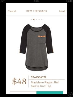 Staccato, Madelene Raglan Roll Sleeve Knit Top I need this.. right up my ally