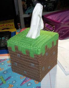Grass Block Tissue Cover by Makinscents on Etsy Minecraft Room Decor, Minecraft Toys, Minecraft Bedroom, Minecraft Pattern, Minecraft Anime, Minecraft Stuff, Minecraft Crafts, Plastic Canvas Crafts, Plastic Canvas Patterns