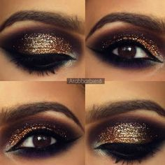 This smokey golden eye makup is perfect for a seductive night out. Preen Me